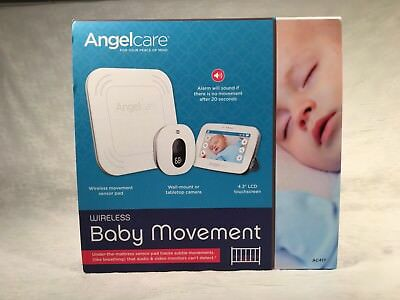 "Angelcare Wireless Baby Movement Monitor Kit + Camera 4.3"" LCD touchscreen AC417"
