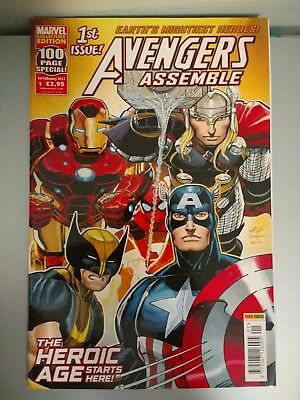 Avengers Assemble #1 The Heroic Age Feb 2012 100 pages Romita Jr. Infinity War