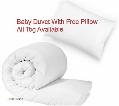 Luxury Baby Junior Toddler Anti Allergy Cot Bed Duvet/Quilt With Free Pillow