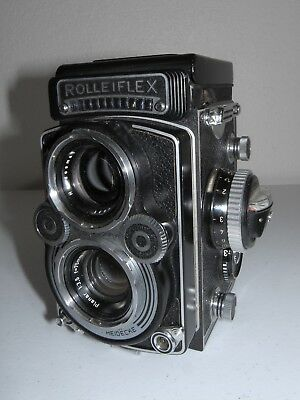 Excellent Rolleiflex 3.5F Planar 75mm f/3.5 Lens with Meter and Original Case