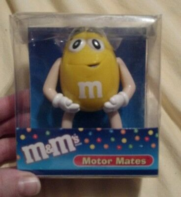 Yellow M&M Motor Mate Antenna Topper Dashboard Mirror M&M's Mates New in Package