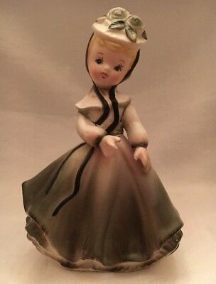 Vintage Antique Napco Irish St Patrick Day Southern Belle Girl Figurine 1960s