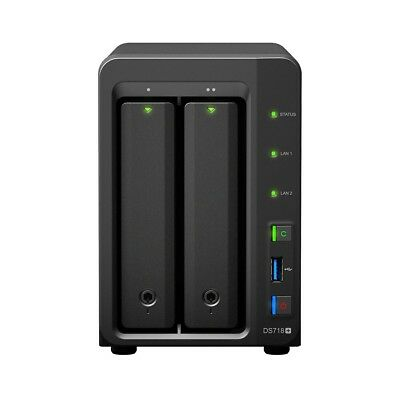 Synology DS718PL2TBSEA DS718+ 2TB IronWolf Dual Bays Compact Ethernet NAS Server