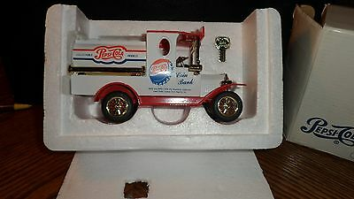 Die Cast Pepsi Truck Coin Bank with Key