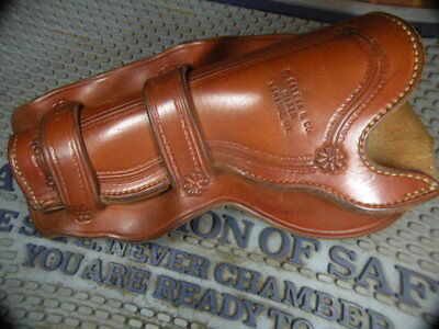 Vintage style tooled western L/hand holster, marked