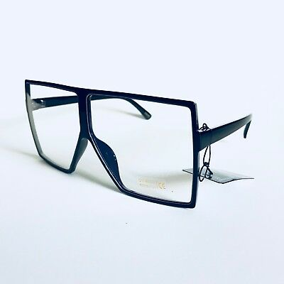Square Oversized XXL Huge Betty Design Flat Top Fashion Clear Glasses Men Women