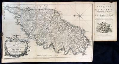 James Boswell An Account of Corsica 1768 1st Foulis Edition Glasgow Map FPOBO