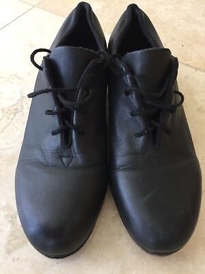 """BLOCH """"AUDEO"""" ADULT LACE UP TAP SHOE Shockwave Used SIZE 9"""