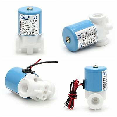 """DC24V G 1/4"""" Electric Solenoid Valve N/C  For RO Water Air Quick Connector Hot"""
