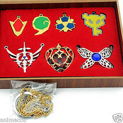 The Legend of Zelda Necklace keychain Pendant 7pcs Set Collection New in Box B
