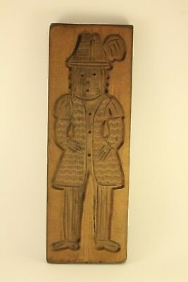 Primitive Antique Carved Wood Speculaas Kitchen Cookie Mold Springerle Dutch Man