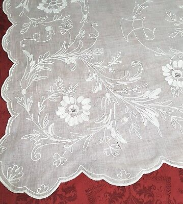 Rideau broderie Cornely long 270 cm French Cornely embroidered  N°2
