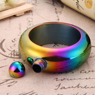 3.5oz Bracelet Bangle Hip Flask Beer Wine Vodka Whiskey Alcohol Drinkware Flagon