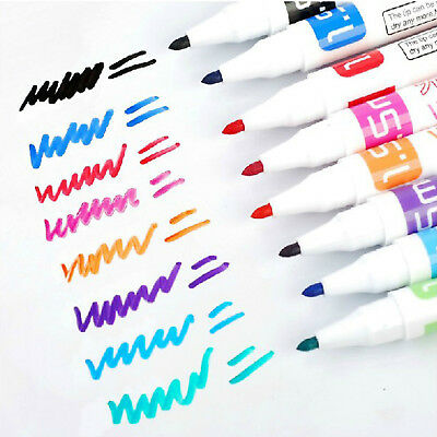 8 Color Whiteboard Marker Pens White Board Dry-Erase Easy Wipe Bullet Tip Set AU