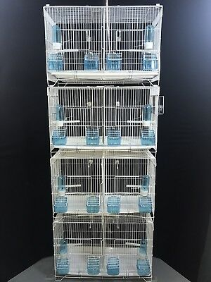 sets of 4 Double Canary budgies  zebra  Breeding Cages in white or black colour