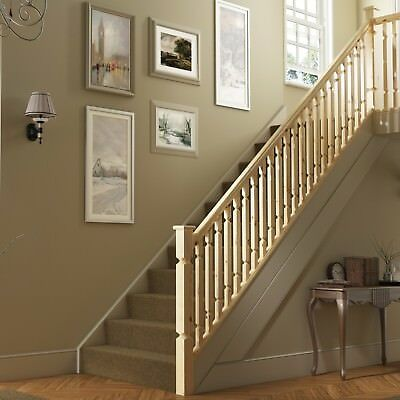 Regency Plain Square Stair & Landing Balustrade Kit - Select Timber and Kit Type