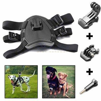 Dog Pet Harness Chest Back Mount Strap Accessories For GoPro 1 2 3 3+ 4 Camera