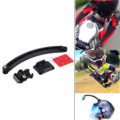 Motor Helmet Extension Arm Kit with Curved Adhesive Mount For GoPro Hero 6 5 4 3