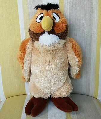 """Owl from Winne The Pooh 12"""" plush soft toy by Disney Store"""