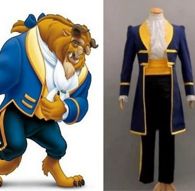 Film Beauty and the Beast Adam Cosplay Outfit Party Costume Male Fancy Dress