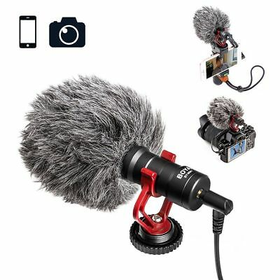 BOYA BY-MM1 Condenser Cardioid Microphone for iPhone PC DSLR Camera Audio Video