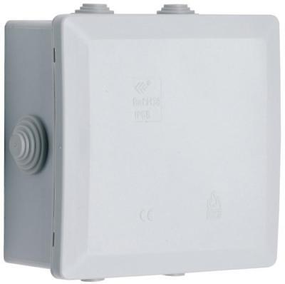 Ip55 Rated 100X100X55Mm Large External Outside Waterproof 5 Way Junction Box