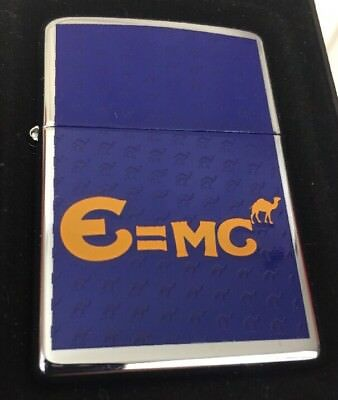 2007 Zippo Lighter Camel Cigarettes European Design E=MC CZ 769 MIB