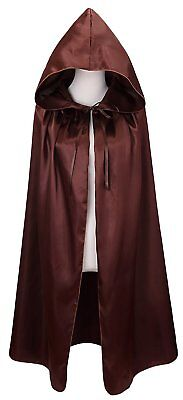 VGLOOK Kids Halloween Costumes Christmas Cloak With Hood Ages 8 to14Brown