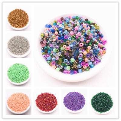 Wholesale 2/3/4mm Czech Glass Seed Spacer beads Jewelry Making DIY 31 Color Free