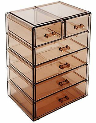 Sorbus Cosmetics Makeup and Jewelry Display 4 Large, 2 Small Drawers, Bronze