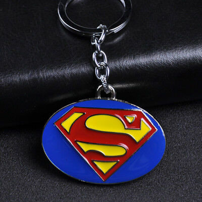 DC Comics Superhero Superman Logo Alloy Key Chains Keychain Keyfob Keyring Gifts