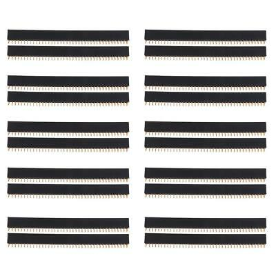 20 Pezzi 2.54mm 40pin Doppie File Connettore Pin Femmina Accessori