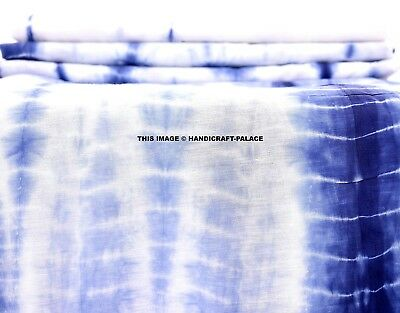 Indian Tie Dye Shibori Fabric For Upholstery Indigo Cotton Voile By