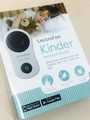 LectroFan Kinder Bedtime Buddy - Child/Baby White Noise Sound Therapy Nightlight