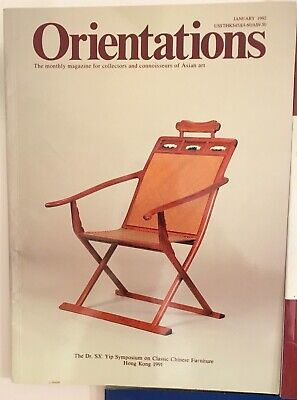 3 x ORIENTATIONS magazine Asian art and antiques CHINESE furniture VGC