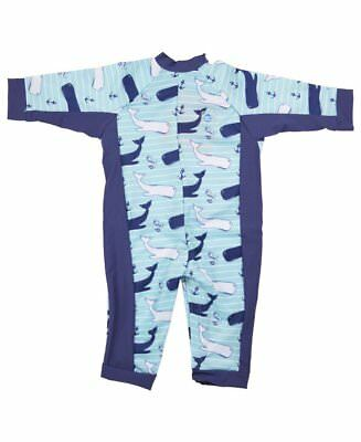Splash About Baby Toddler Boys UV All in One Sunsuit | UPF50+ | Vintage Moby