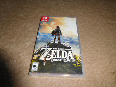 Legend of Zelda Breath of the Wild Nintendo Switch Game BRAND NEW FACTORY SEALED