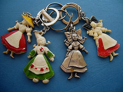 Porte-clés-Keychain-Portachiavi- Lot 4 PC Provinces de  France