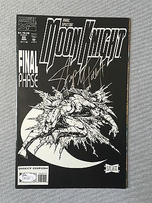 Marc Spector: Moon Knight Issue #60 Stephen Platt Signed Jsa Certified 1994