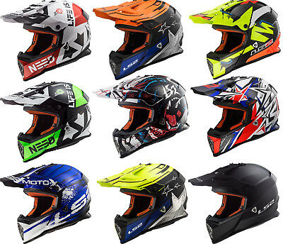 Ls2 Mx437 Fast Core Beast Spot Strong Off Road  Motocross Motorcycle Quad Helmet
