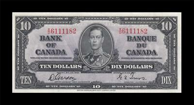 1937 BANK OF CANADA KGVI $10 **Gordon & Towers** (( aUNC ))
