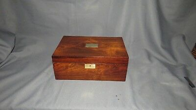 A FINE 19th CENTURY VICTORIAN ROSEWOOD SEWING/WORK BOX