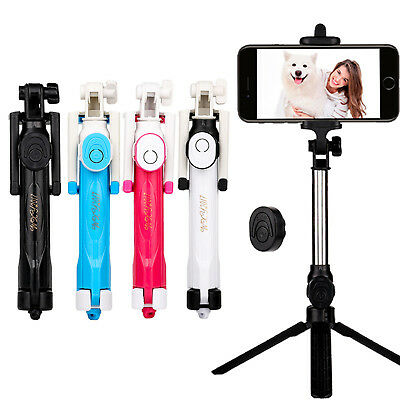 Extendable Monopod Tripod Bluetooth Remote Shutter Selfie Stick For Mobile Phone