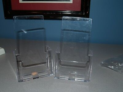 TWO Clear Plastic Brochure Holders/Stands