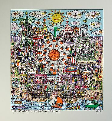 James Rizzi The big Apple is on coney Island - Farblithografie
