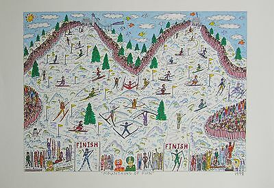 James Rizzi Mountains Of Fun - Farblithografie