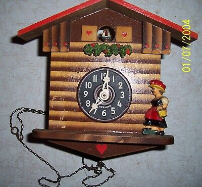 Vintage Cuckoo Clock For Parts. 1974.6020 Innsbruck.Hofgasse. Has Lady on Front.