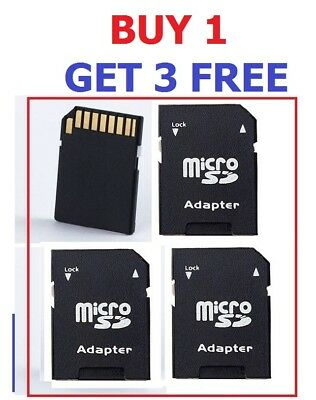 4 x MEMORY CARD ADAPTOR MICRO SD SDHC ADAPTER Speedy shipping Post