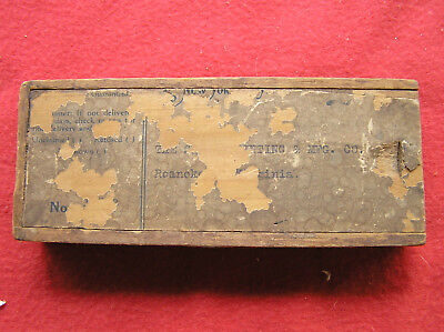 "379. Early Wooden Mailer box for ""The Dredge Ruling Pen Company"""