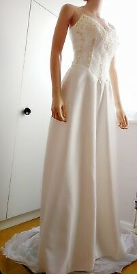 Brand new satin wedding dress size 12-14 factory sample sale